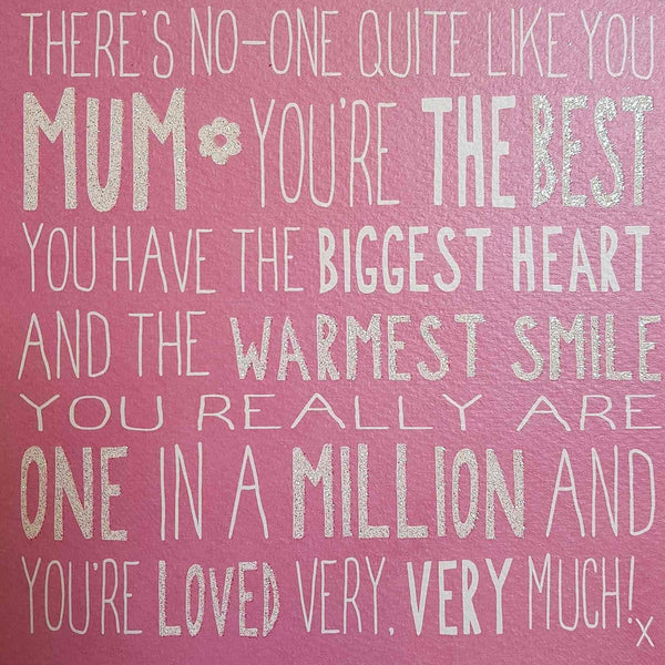 Messages of Love - Best Mum 160mm x 160mm (JJ)