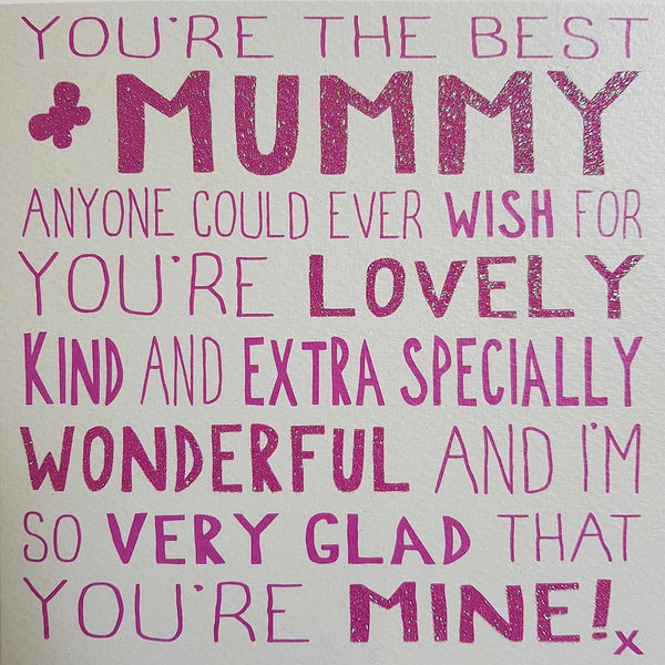 Messages of Love - Best Mummy 160mm x 160mm (JJ)
