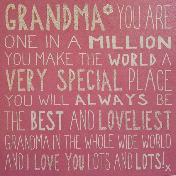 Messages of Love - Special Grandma 160mm x 160mm (JJ)