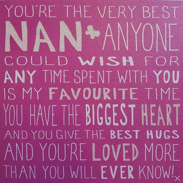 Messages of Love - Best Nan 160mm x 160mm (JJ)