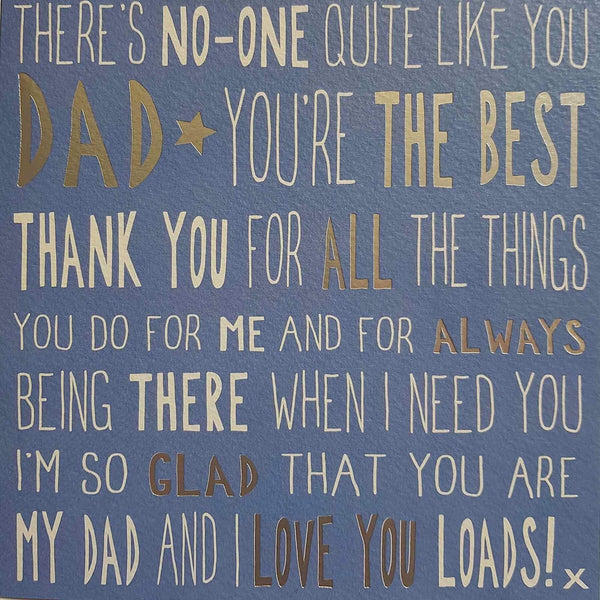 Messages of Love - Best Dad 160mm x 160mm (JJ)