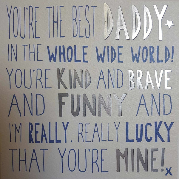 Messages of Love - Best Daddy 160mm x 160mm (JJ)