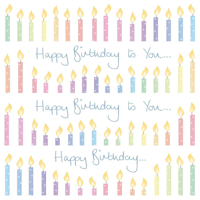 Ella Bella Rose - Birthday Candles 145mm x 145mm (IJ)