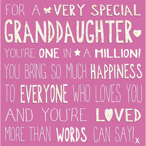 Messages of Love - Granddaughter 145mm x 145mm (IJ)