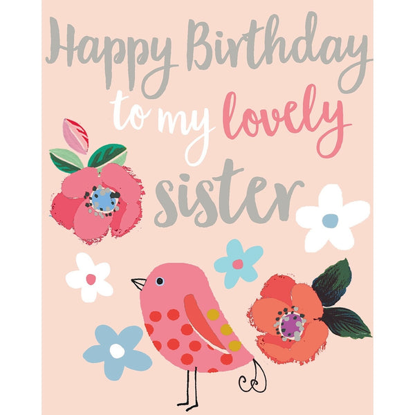 Liz & Pip - Lovely Sister Birthday (Focus) 120x150mm (Garden Party)