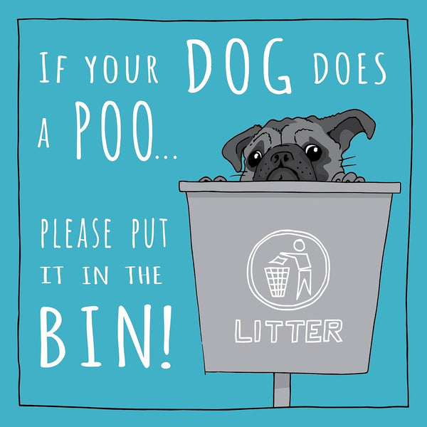 Totally Pawsome - Dog Bin 145mm x 145mm (IJ)