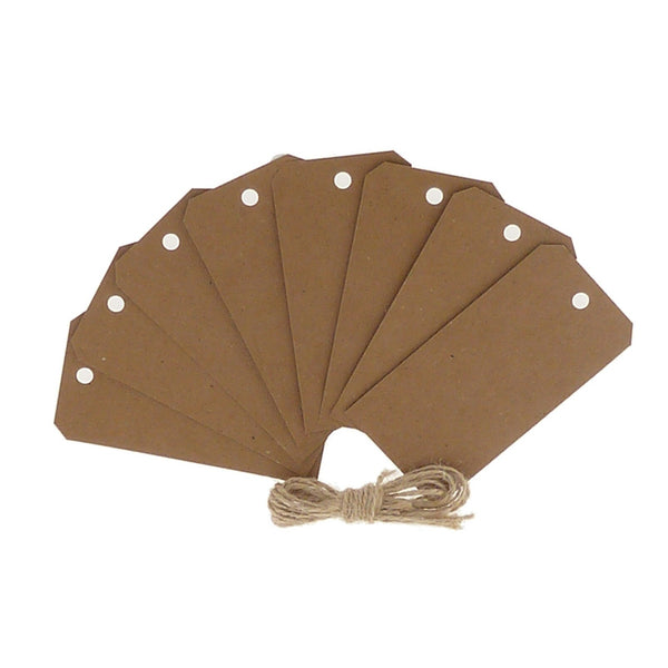 Brown Kraft Luggage Gift Tags 50x100mm