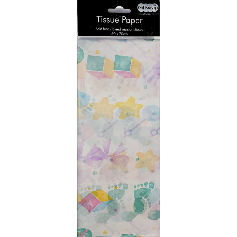 Tissue Paper Baby Prints
