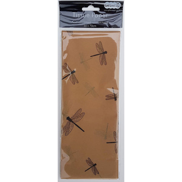 Tissue Paper Brown Dragonfly