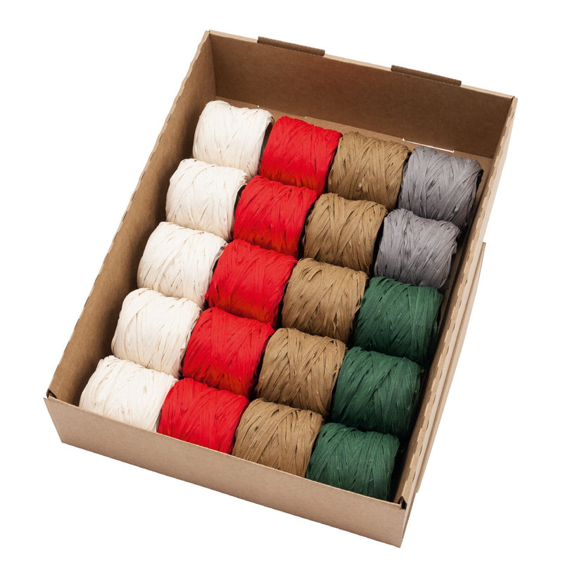 Nature Raffia Ribbon Assortment (GOG) 10mm x 20m