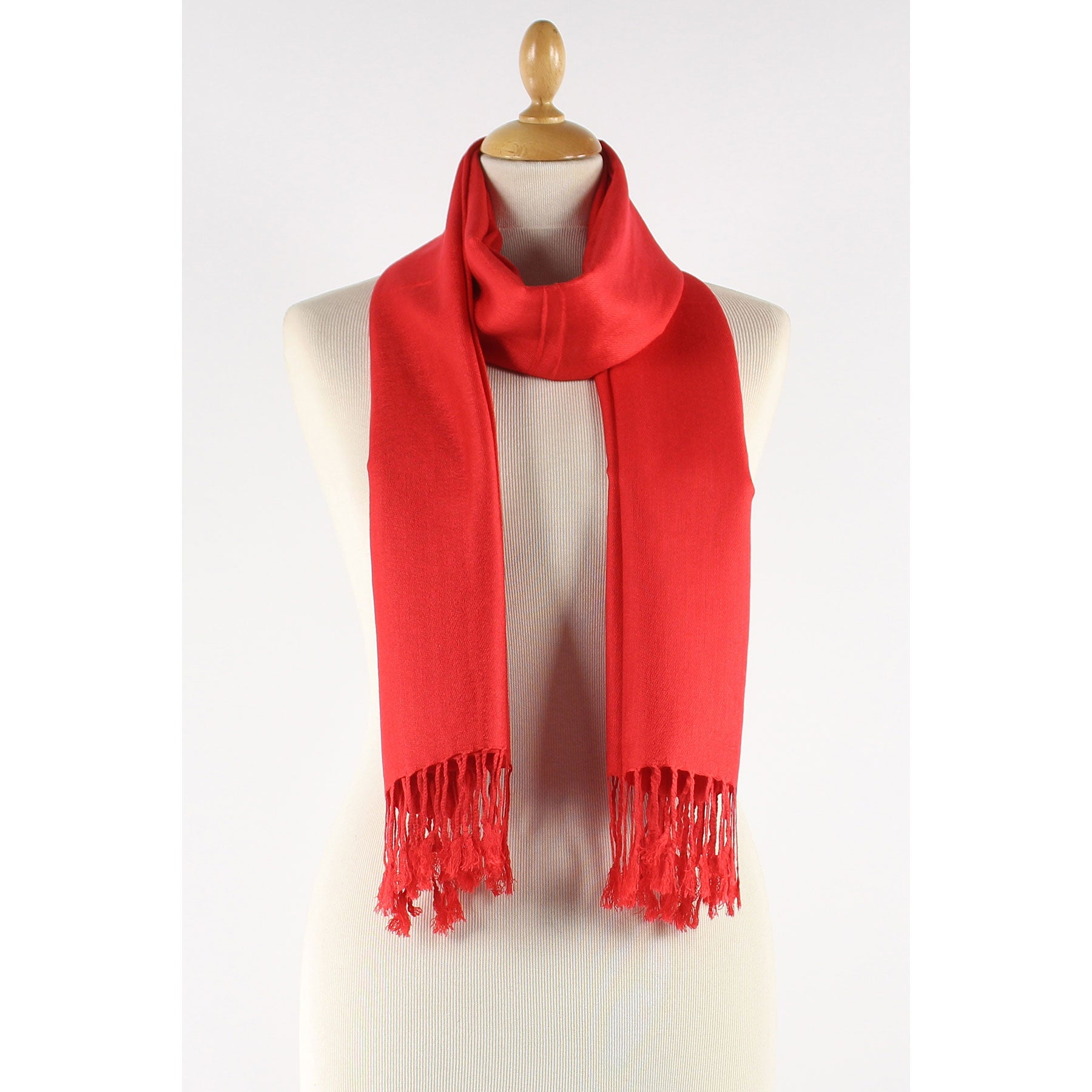 Fire Red scarf. soft and silky
