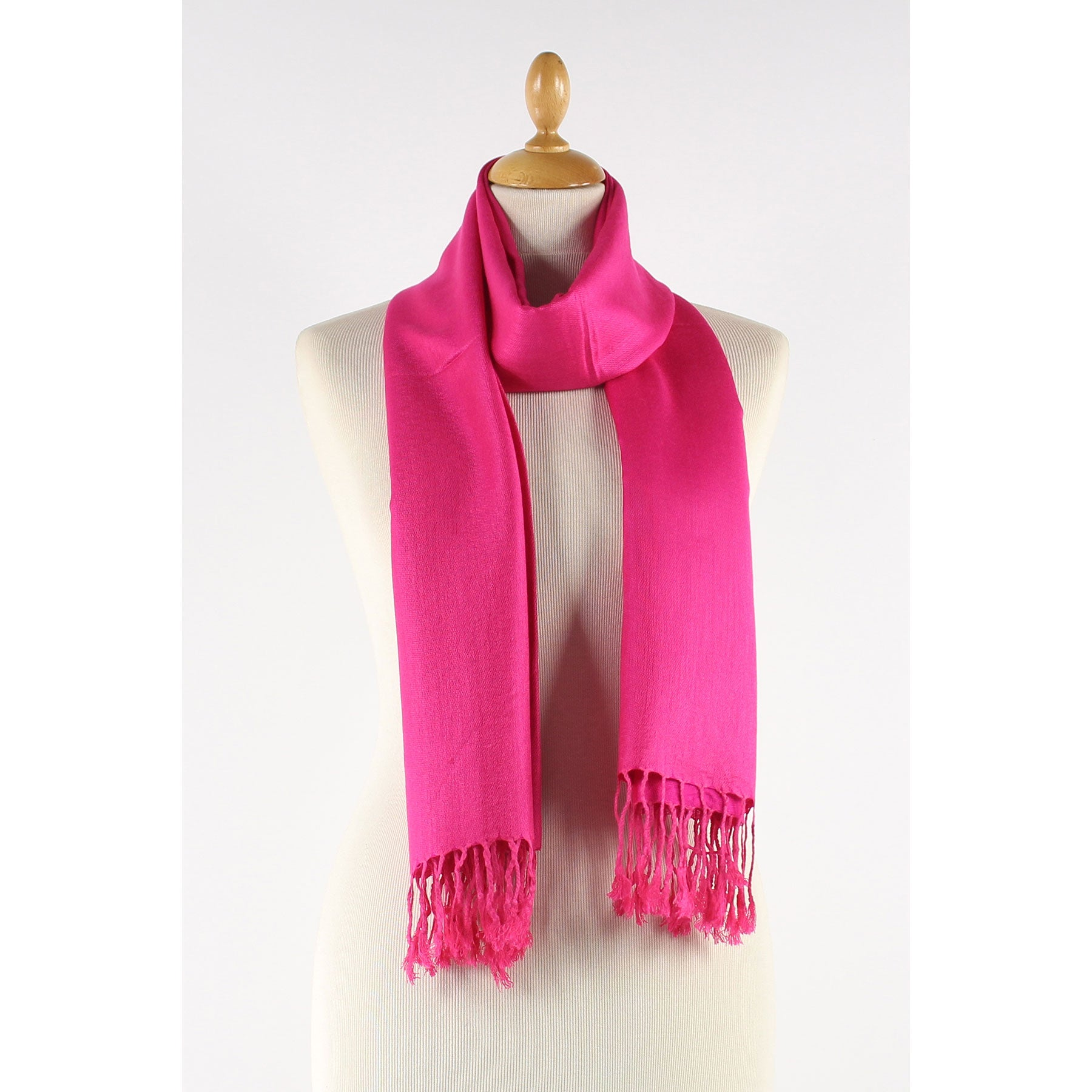 Fuchsia scarf. Just Perfect
