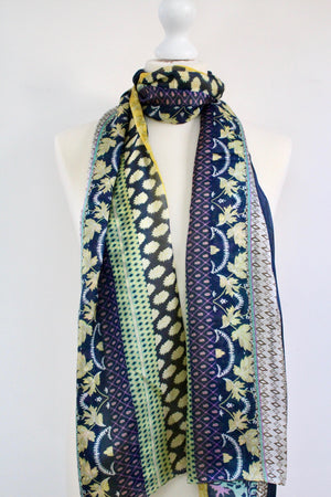 Large light silk stole