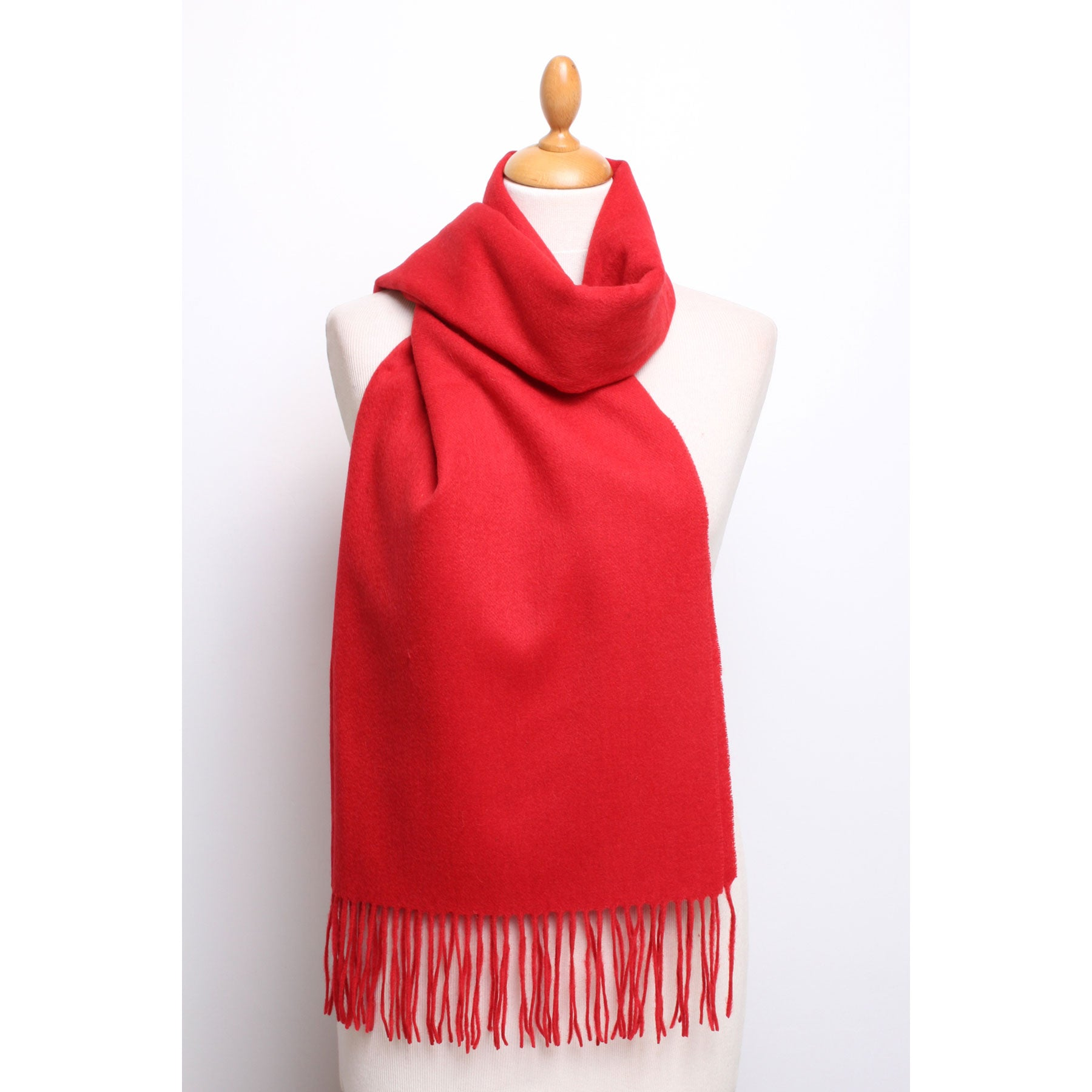 Tomato red wool large  scarf