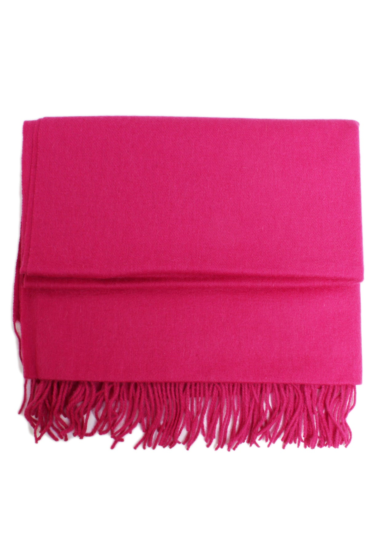 Fuchsia wool large  scarf//wrap