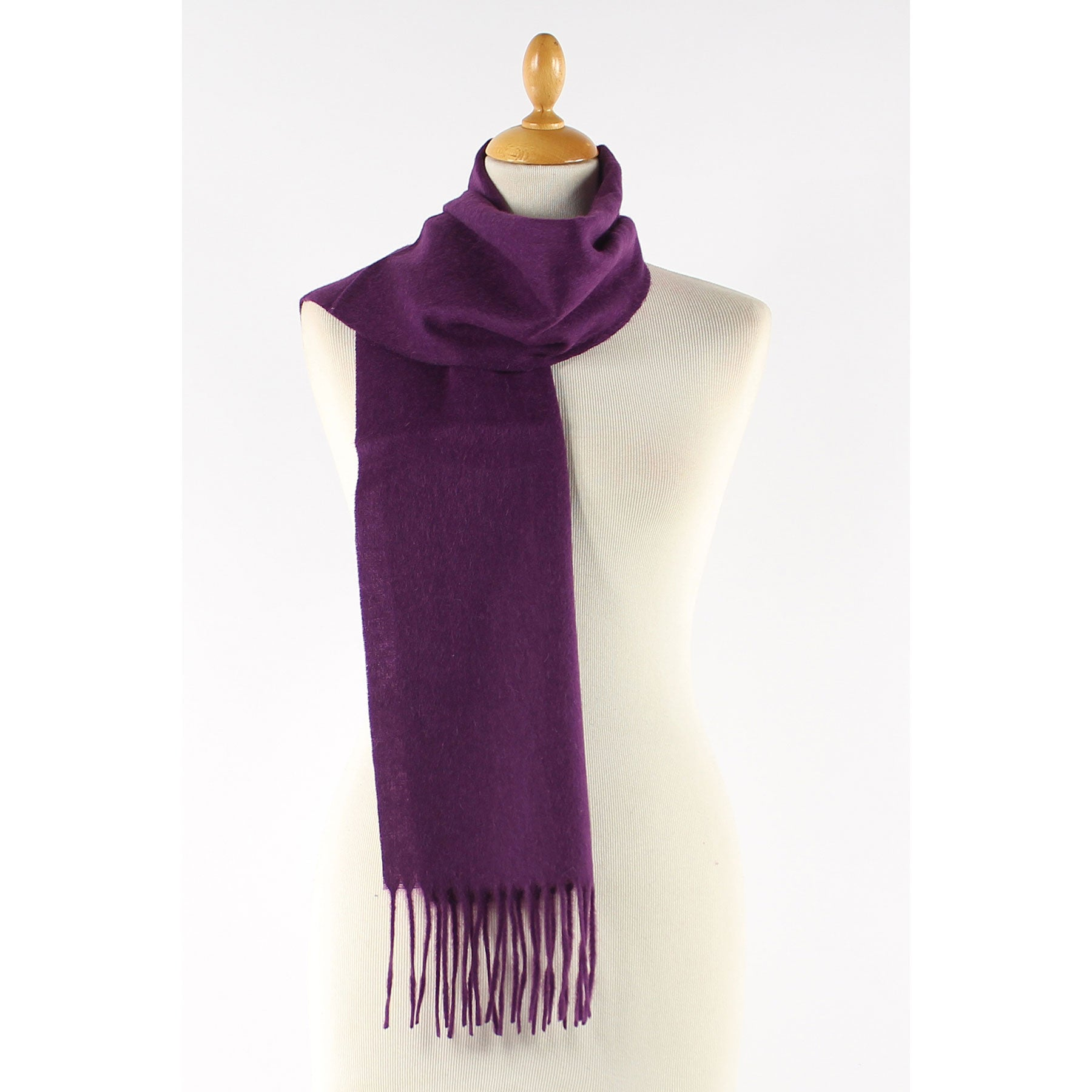 Violet wool small  scarf