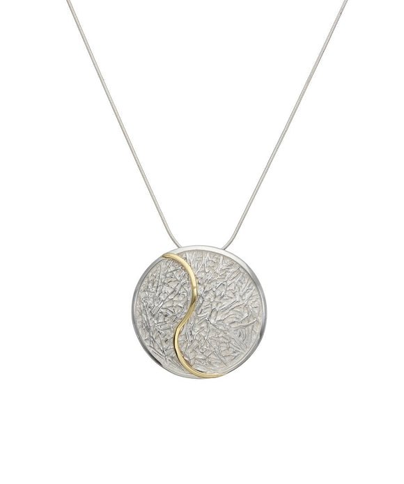 Sterling silver and gold pendant - Doyle Design Jewellery