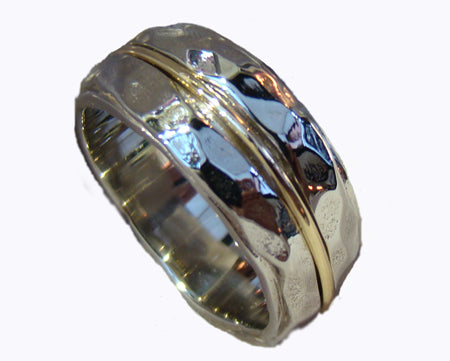 two tone mans wedding ring