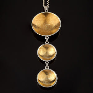 Triple Bowl Pendant with 22ct Gold Vermeil - Doyle Design Dublin