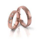 Rose & White Gold Diamond Set Ring - Doyle Design Dublin