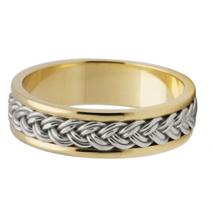 Celtic Knot Channel Ring - 2 Tone - Doyle Design Dublin