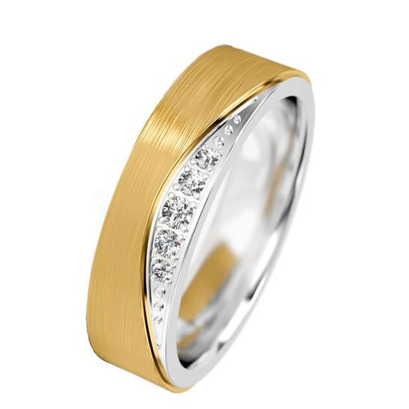 Diamond Set Flow Ring - Doyle Design Dublin