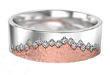 Diamond Peaks Ring - in White and Rose Gold - Doyle Design Dublin