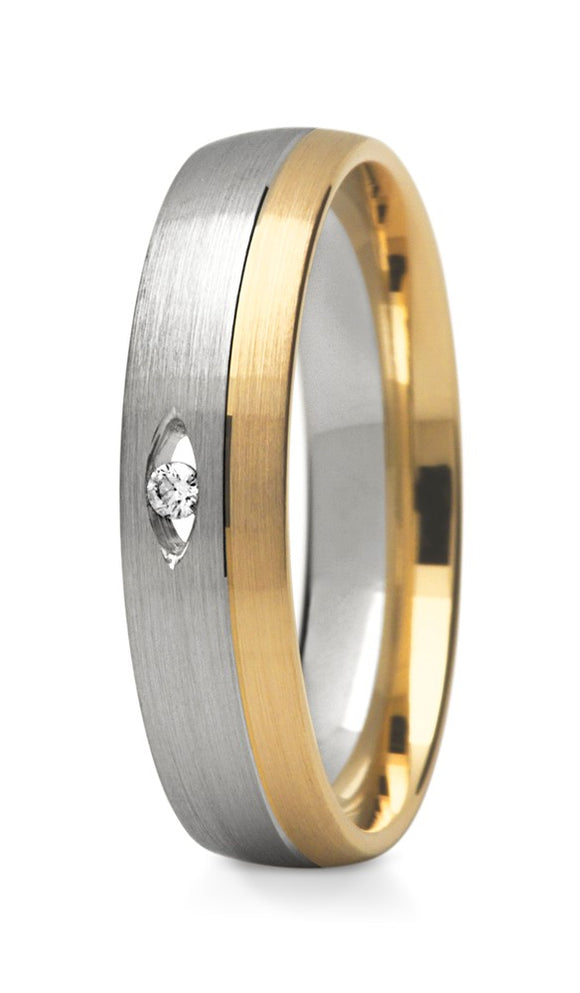 Aperture Ring - Two tone with a Diamond Window - Doyle Design Dublin