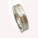 White Gold Concave Ring with Satin Finish (5mm) - Doyle Design Dublin