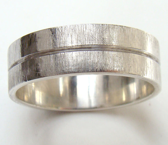 Groove Ring with Scratch Finish - Doyle Design Dublin