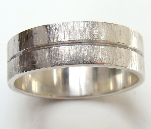 Groove Ring with Scratch Finish (6mm)