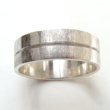 Groove Ring with Scratch Finish (6mm) - Doyle Design Dublin