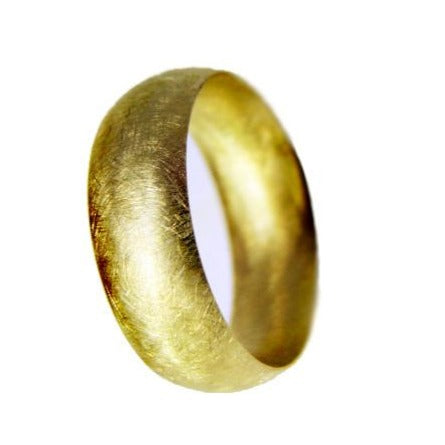 handmade gold wedding ring with matt finish