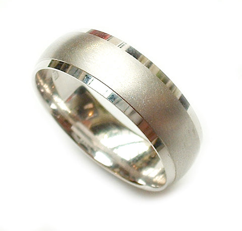 Beveled Edge Wedding Ring