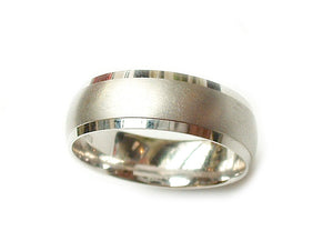 white gold gents wedding wedding band with bevelled edge