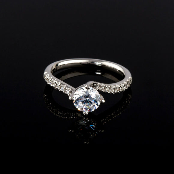 Twist Engagement ring - Doyle Design Dublin