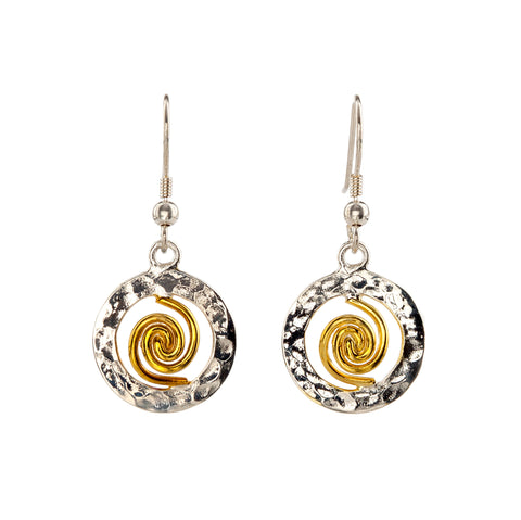 Spiral of Life Circle Earrings (small)