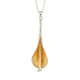 Lilly Pendant Sterling silver & 22ct Gold Vermeil - Doyle Design Dublin