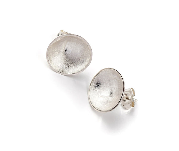 Bowl Stud Earrings - Sterling Silver
