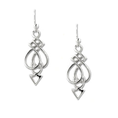 handmade Celtic silver earrings