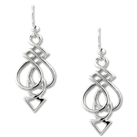 Sterling Silver celtic spear protection earrings