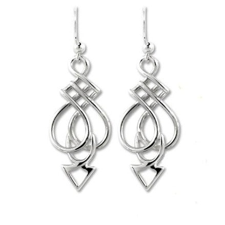 Celtic spear earrings symbol of protection