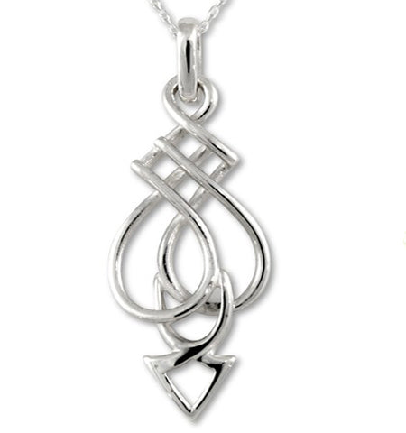 Sterling Silver Celtic Spear Pendant