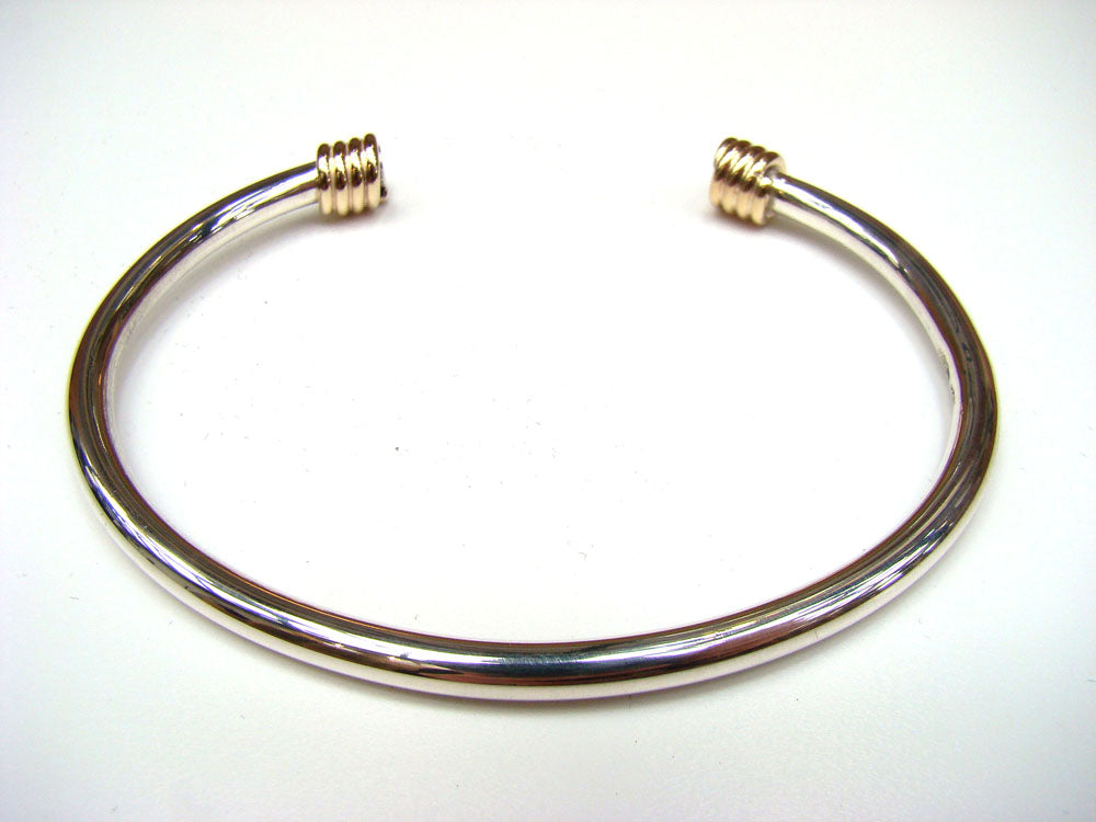 Torc Bracelet with Gold Wrap Ends