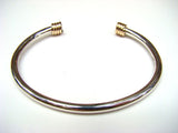 Torc Bracelet with Gold Wrap Ends - Doyle Design Dublin