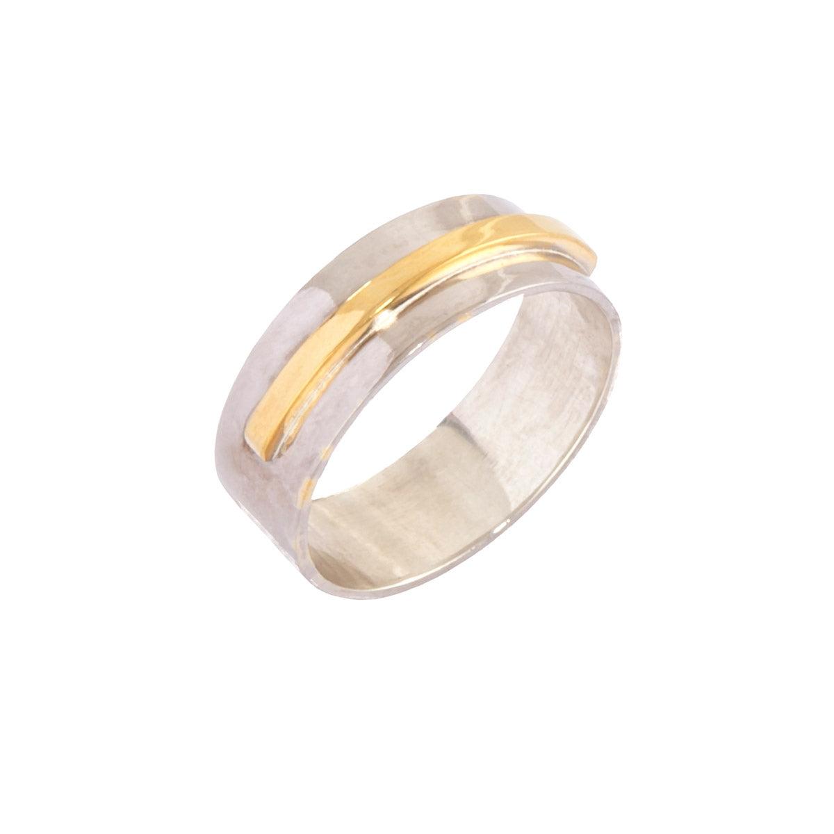 two tone mans wedding band