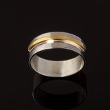 Two Tone Elevate Wedding Ring - Doyle Design Dublin
