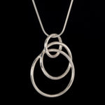 Oblique Pendant Sterling silver black background