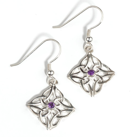 Gráinne Earrings in Amethyst or Peridot - Doyle Design Dublin