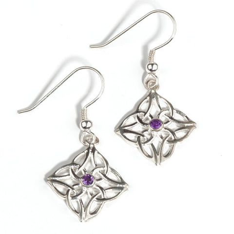 Gráinne Earrings in Amethyst or Peridot